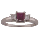 ruby diamond ring 14kw
