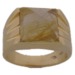 mens rutilated quartz 10ky