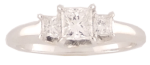 Diamonds = .56 Carat SI1 E<br>14 Karat White Gold