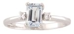 10 Karat White Gold<br>Accent Diamonds = .04 Carat